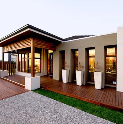 Fachadas de madera de casas modernas fotos construye hogar for Fachadas de casas modernas con negocio
