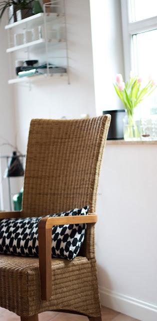 Loom Stuhl, Esszimmer im Winter dekorieren,Kissen Ikea