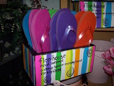 flip flop storage bin
