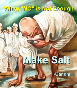 Resist Rock: Gandhi Making Salt