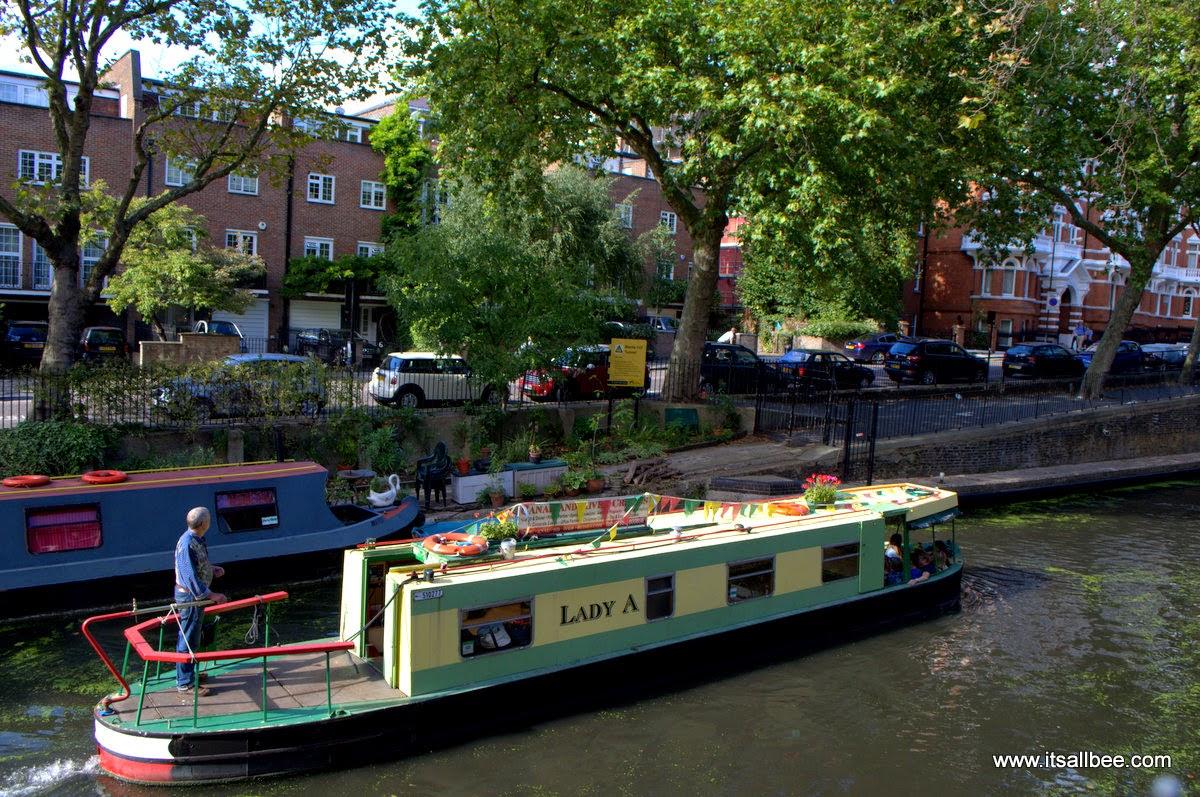 Boat Tours walking Little Venice London Warrick Avenue Paddington