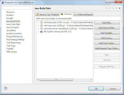 Vamshi Kurra- Adding External jar files in Eclipse