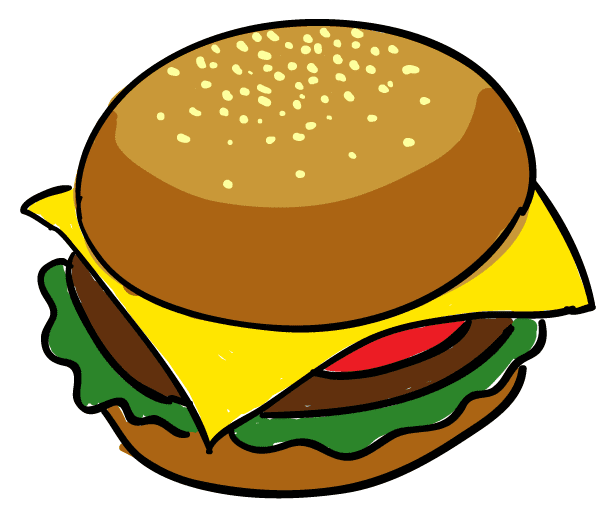 Simple Hamburger Drawing | www.imgkid.com - The Image Kid ...