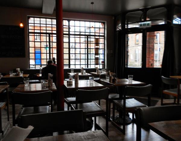 Inside Wuff, the diner on Benburb Street in Dublin