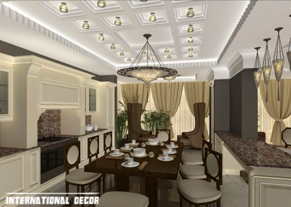 Art Deco kitchen designs and furniture, ceiling design