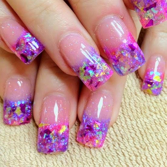 Purple Tip French Manicure Splendid Wedding Company
