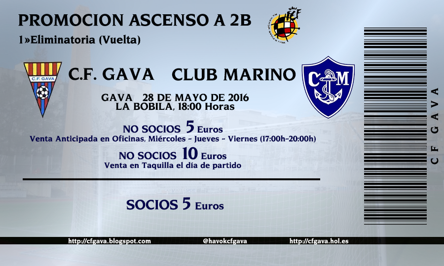 Entradas Gavà - Marino