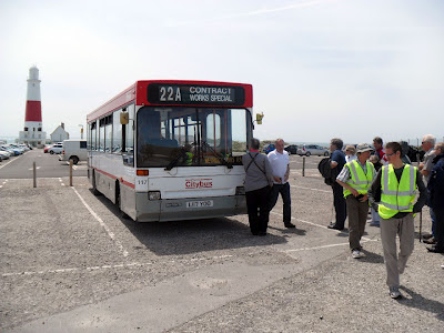 Our bus to take us back from Portland Bill.