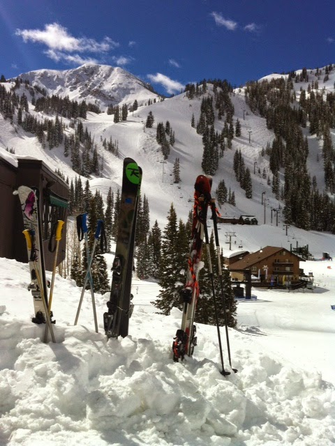 near the base of Alta Ski Area