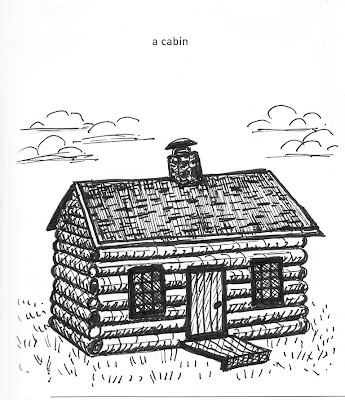 Pen & ink cabin rendered by ©Ana Tirolese