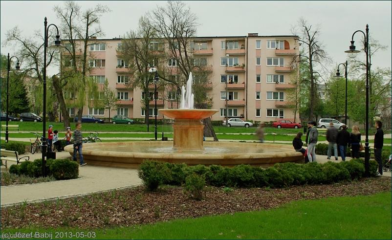Fontanna na Skwerze Niepodległości w Puławach