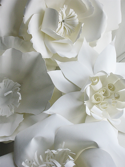 DIY Ing GIANT Paper Flowers Abide The Bride