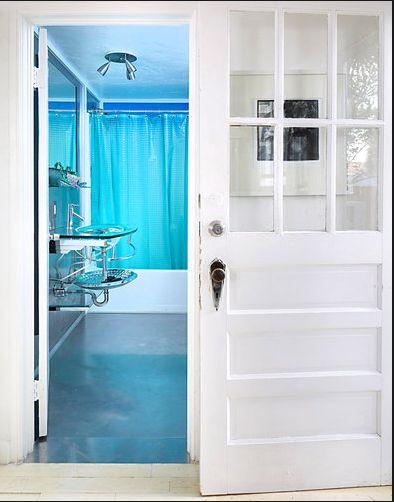 decoração casa pequena, decoração azul turquesa, casa de campo