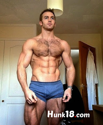 Hot Male Fitness Hunk Model Adam Charlton