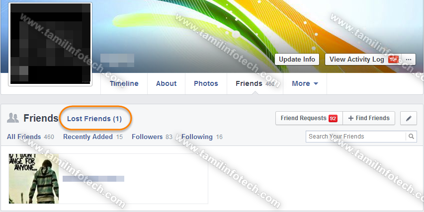 facebook Lost Friends extension tamil