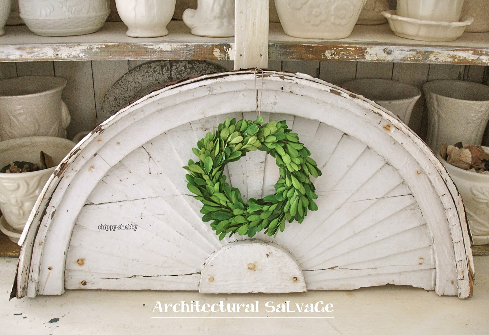Architectural Wood Pediment : Chippy shabby omg vintage architectural salvage