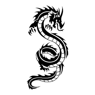 Black and White Dragon Tattoo Designs