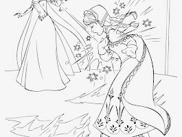 Frozen Disney Infinity Coloring Pages