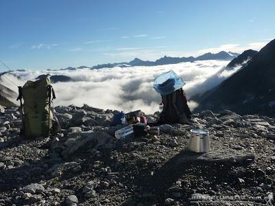 Frühstück über den Wolken
