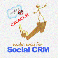 Social CRM push inside the enterprise with Oracle and SalesForce