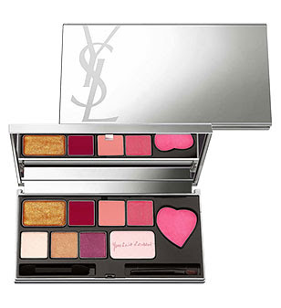 Yves Saint Laurent, YSL, YSL Love Palette, makeup palette, lipgloss, lip gloss, lipstick, lips, blush, cheek stain, eyeshadow, eye shadow, makeup, eye makeup, highlighter