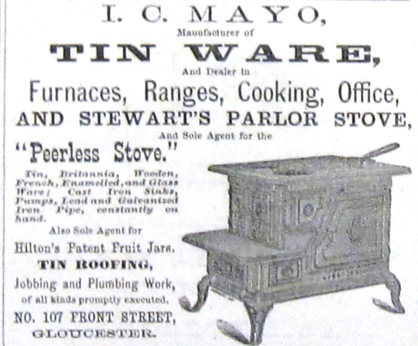 Old Ads Are Funny 1869 Ad I C Ware Manufacturer Of Tin