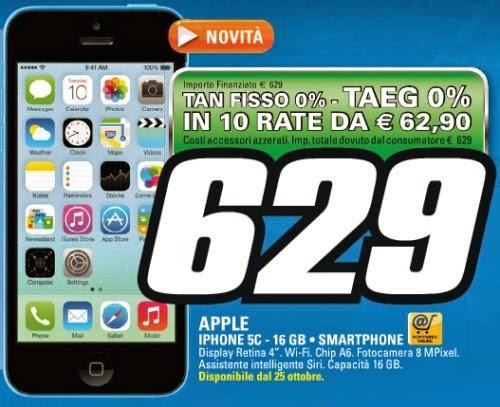 L'iPhone colorato di Apple è disponibile dal 25 ottobre a tasso zero sul volantino Saturn