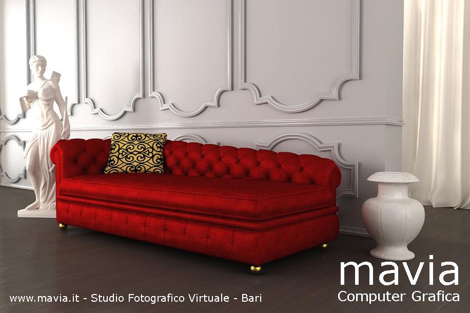 Arredamento di interni divani divano rosso in pelle ed in - Divano in pelle rosso ...
