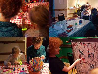 Children's activities and craft family rave Big fish Little Fish