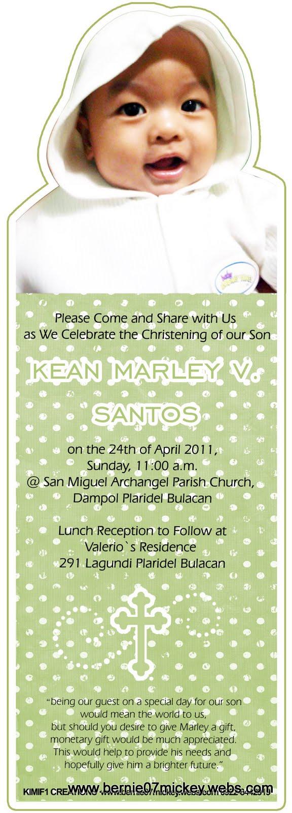 f1 digital scrapaholic bookmark christening invitation