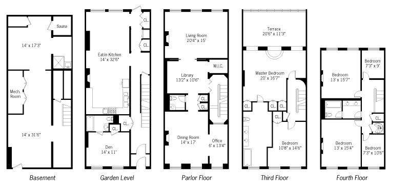 new york townhouse floor plans. LOCATION  New York City NY PRICE 14 000 SIZE 4 158 square feet 5 bedrooms 3 bathrooms Real Estate Agent Property Robert DeNiro Lists