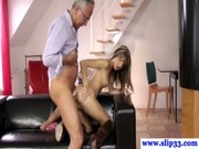 Assfucked Teen Amateur Banged by Old Guy