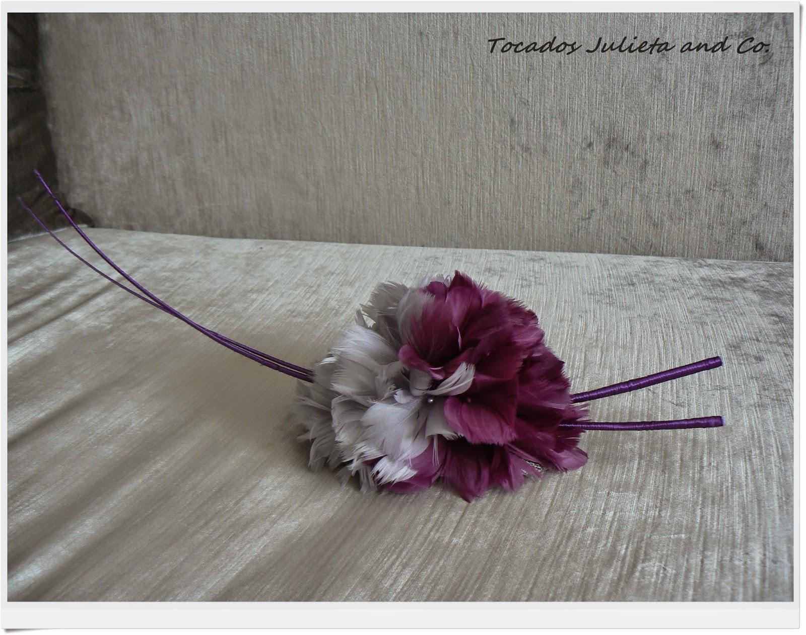 tocado con flores