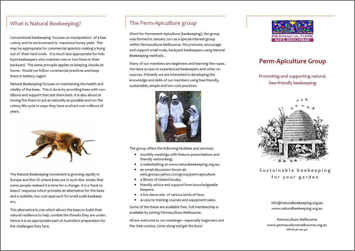 perm apiculture the natural beekeeping group out and about at