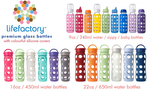 Second Wind: Lifefactory glass water bottles
