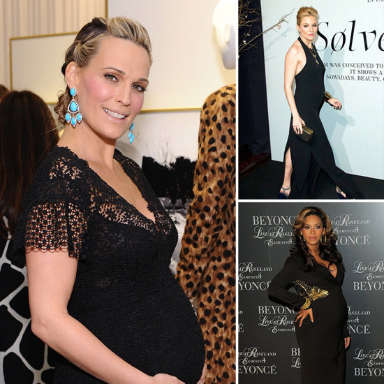 pregnant celebrities in cute and beautiful maternity dresses
