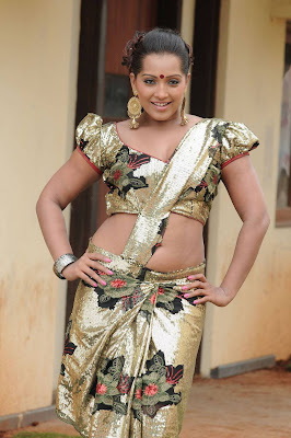 Actress Meghna Naidu in Hot Blouse Still