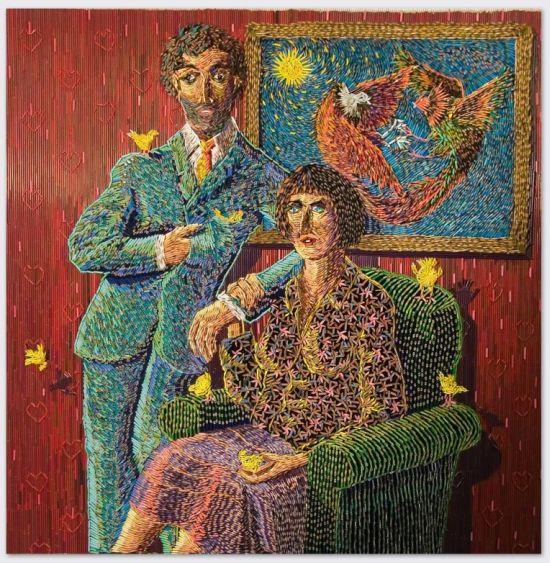 Federico Uribe pinturas feitas com lápis Harmonia familiar