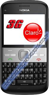 Dados para configuração da conexão CLARO 3G (CLARO 3G MAX)