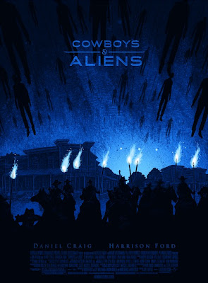 Cowboys & Aliens Screen Print by Daniel Danger
