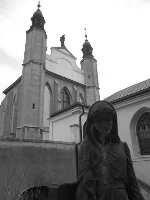 The graveyard outside of the bone church (ossuary) in Kutna Hora, Czech Republic.