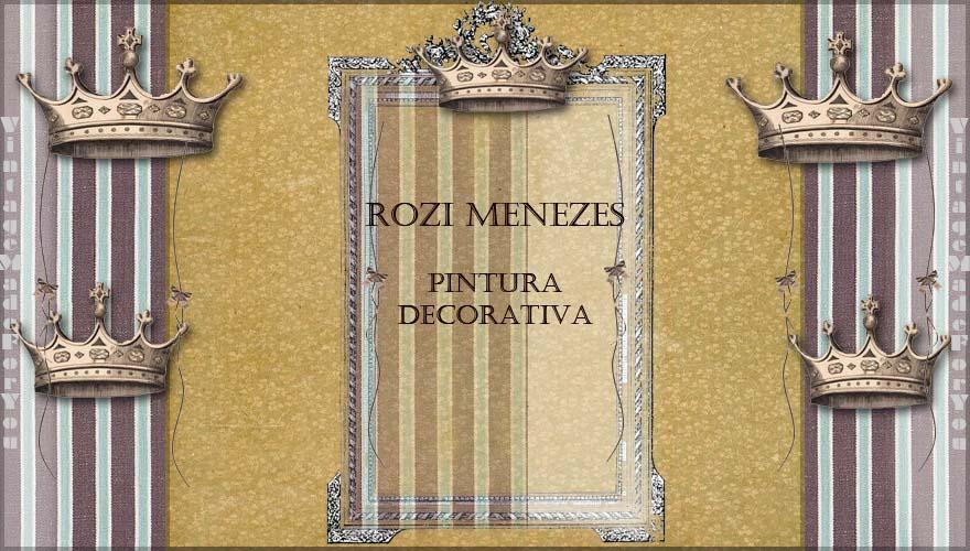 Baú em Pintura Decorativa Rozi Menezes