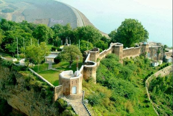 Mangla Fort, Mangla Lake, River Jhelum, Pakistan