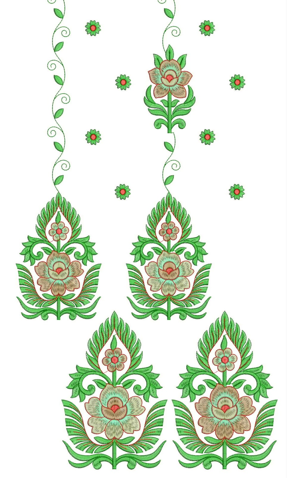 Embdesigntube daman top dupatta embroidery design
