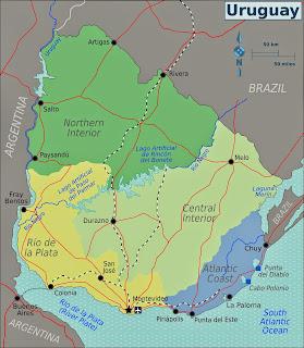 Uruguaji - Hartat gjeografike në Uruguaji