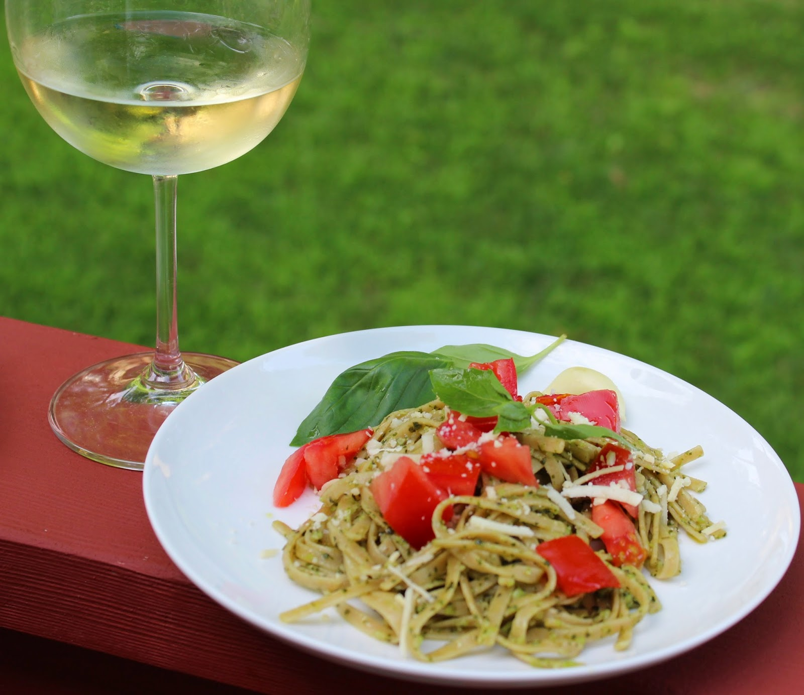 Basil pesto paired with Sauvignon Blanc for Wine Pairing Weekend