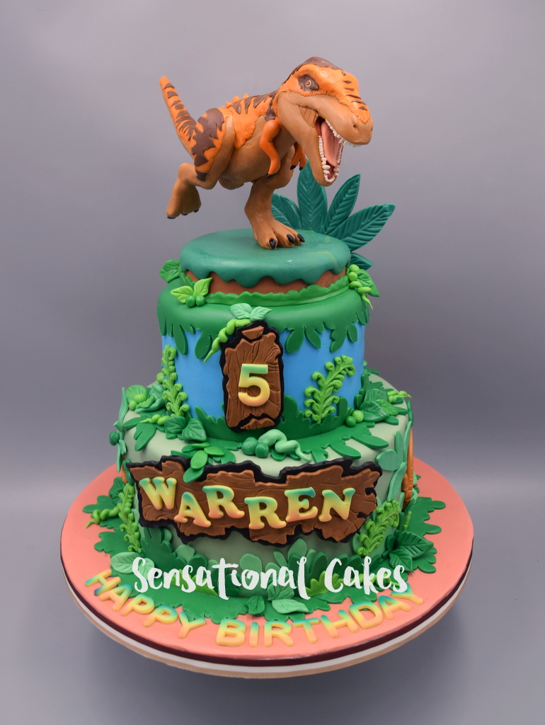 The Sensational Cakes Jurassic Park Inspired Dinosaur 3d Sugar