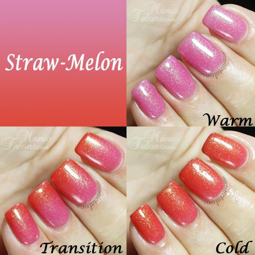 BMC Gel Polish Straw-Melon Swatch