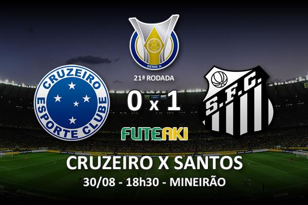 Veja o resumo da partida com o gol e os melhores momentos de Cruzeiro 0x1 Santos pela 21ª rodada do Brasileirão 2015.