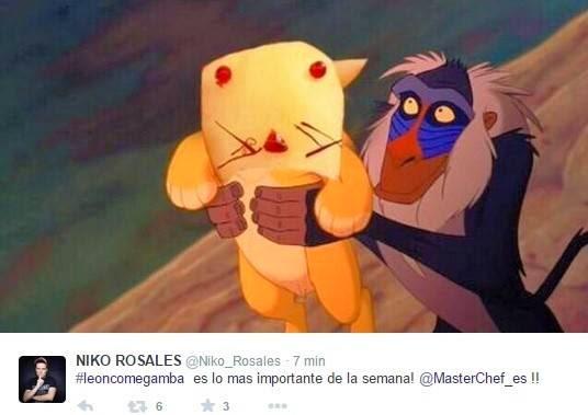 León come gamba